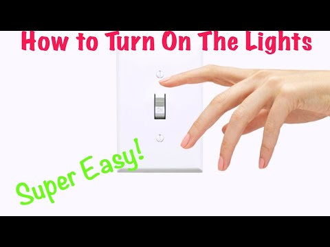 How To Turn On The Lights (Fast And Easy Tutorial) Very Simple!