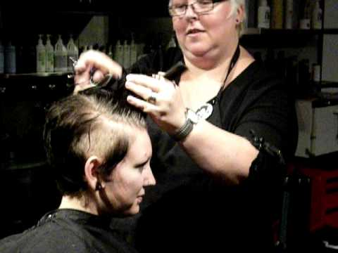 New!!! The Den Salon Downtown Long Beach Ca. Creative Short Punk Rock Shaved Woman's Cut