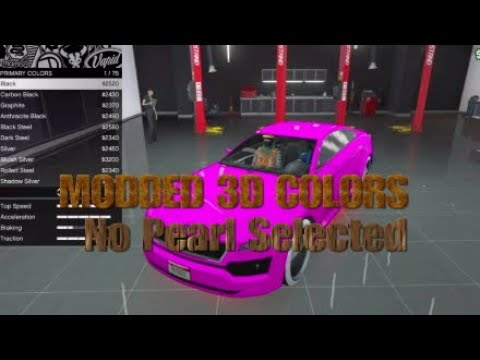 HOW TO MAKE MODDED 3D COLORS Gta5 Online