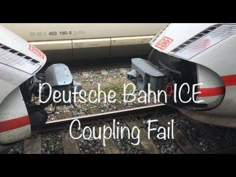 Deutsche Bahn ICE - Train coupling fail - Kupplung rastet nicht ein, Reparatur im Geis