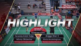 Yeremia E/Winny O (SKO Ragunan/Tangkas Jakarta) VS Angga Dian/Elvira A (Mutiara Cardinal Bandung)