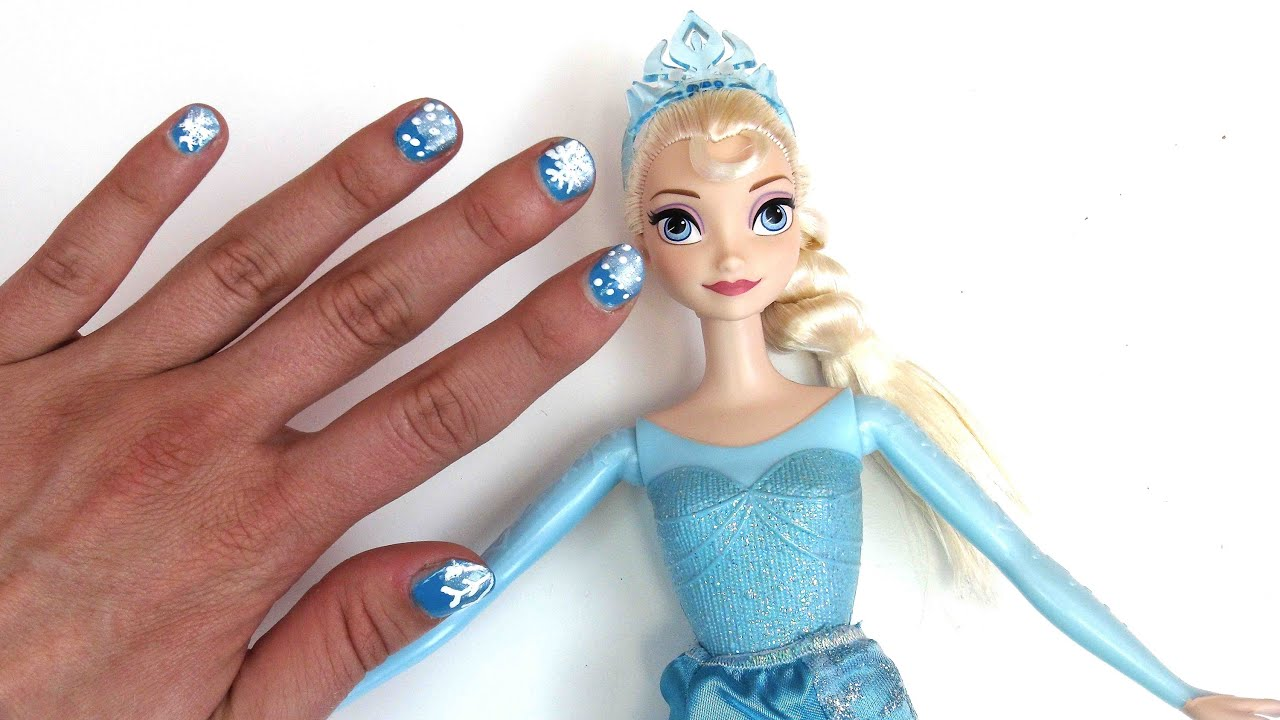 Disney Princess nail art tutorial - DIY Nageldesign Disney ...