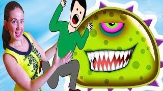 ХИЩНЫЙ СЛИЗЕНЬ ХОЧЕТ КУШАТЬ #1 СЛИЗЕНЬ ЛЮДОЕД Мультик игра для детей Mutant Blobs Attack