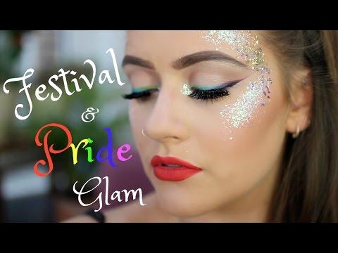 Festival Pride Rainbow Glitter Mermaid Princess Makeup Tutorial