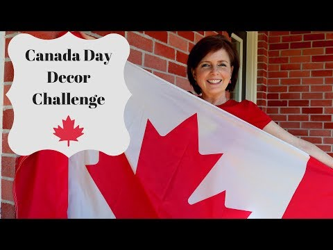 Use What You Got Canada Day Decor Challenge - Patriotic Pride