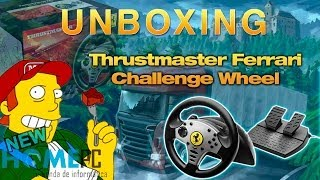 UNBOXING | Volante: Thrustmaster Ferrari Challenge Wheel | Euro truck BABY