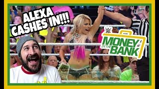 REACTION   ALEXA BLISS CASHES IN!!! NIA JAX VS RONDA ROUSEY   WWE MONEY IN THE BANK 2018