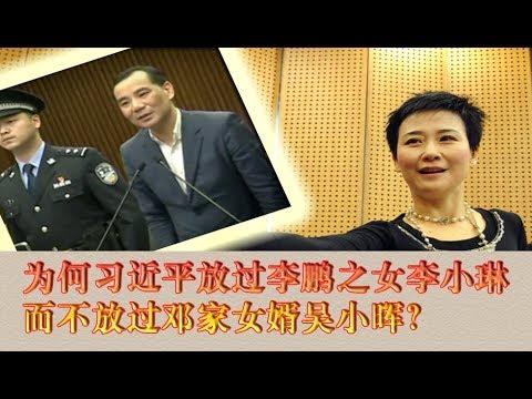 为何习近平放过李鹏之女李小琳,而不放过邓家女婿吴小晖?