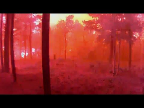 Surveillance Footage vs. Shows Colorado Wildfire Engulfing Cabin