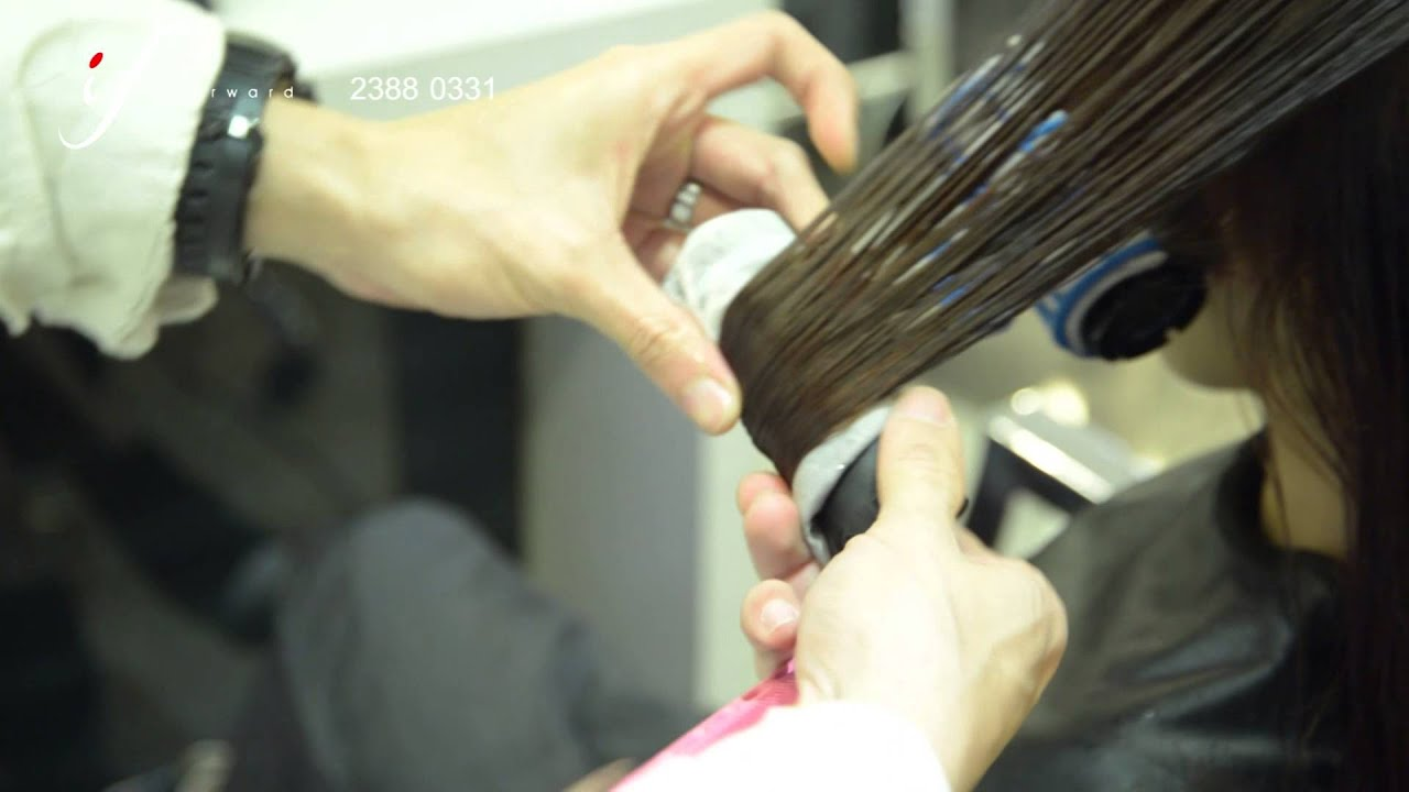 Medium Length Hair Wave Perm I Forward Tst Youtube