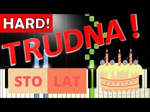 🎹 Sto lat - Piano Tutorial (TRUDNA! wersja) 🎹