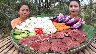Cooking BBQ Beef with vegetable and tofu sauce recipe - Cooking skill