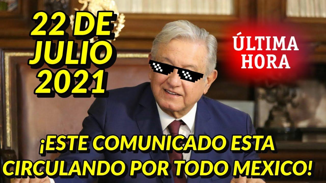 ¡AGARRATE MEXICO! NO QUE NO ESTE COMUNICADO CIRCULA POR TODO EL PAIS ERA CUESTION DE TIEMPO