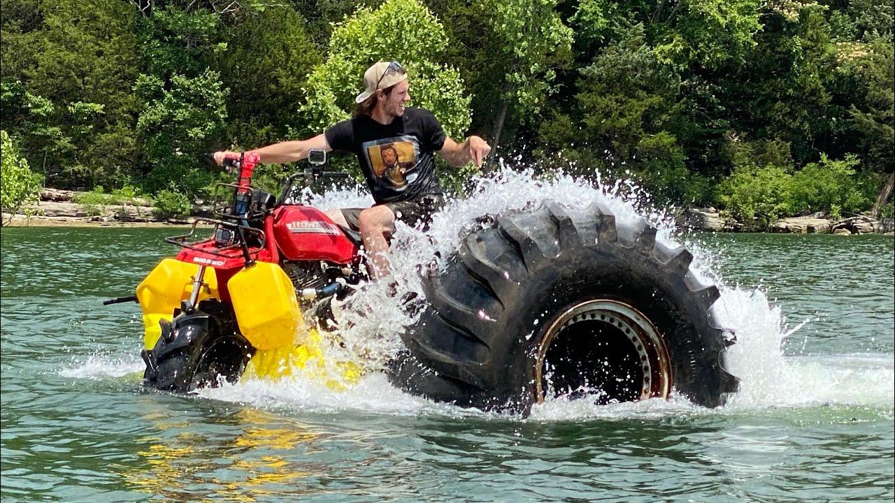 Monster 3 Wheeler Crosses an Entire Lake