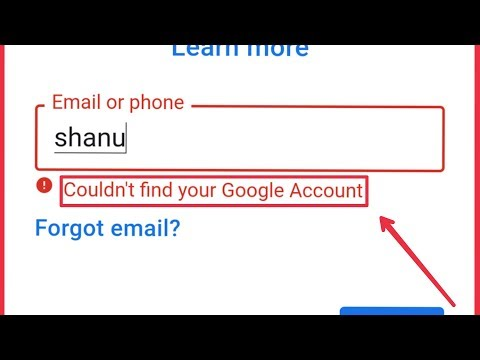 Google & Play Store Account   Fix Couldn't Find Your Google Account Problem Solve