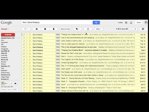 Easy Way To Move Many Gmail Inbox Messages To A Label Or Folder
