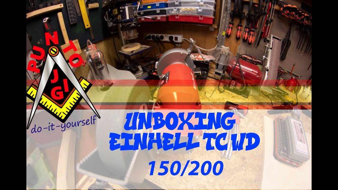 Mola Ad Acqua Einhell.Unboxing Einhell Tc Wd 150 200 Mola Ad Acqua