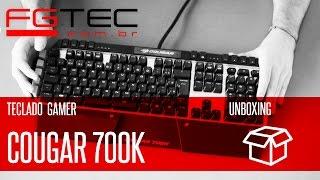 unboxing Teclado Cougar 700K PT-BR