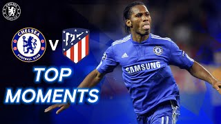 Chelsea v Atletico Madrid Top Moments Ft. Didier Drogba, Sergio Aguero & More