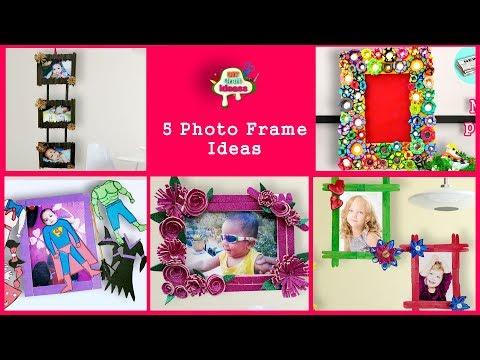 5 Newspaper photo frame  #DIY Craft Ideas-best out of waste-Newspaper photo frame-DIY Photo Frame