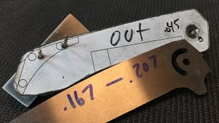 How To Make A Folding Knife #6. Counterbores and Back Spacers
