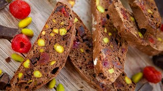 БИСКОТТИ ШОКОЛАДНЫЕ - печенье сухарики с орехами и сухофруктами / простой рецепт / новогодный десерт