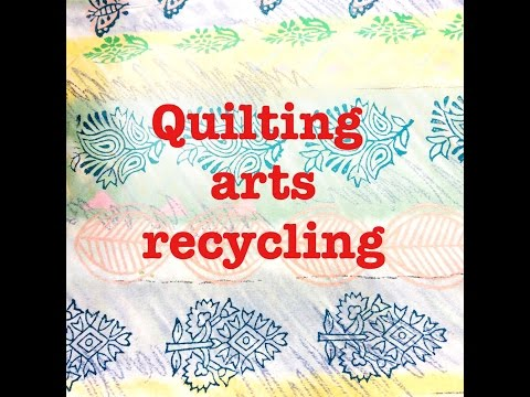 Recycled curtain fabric for quilting arts & sewing cushions