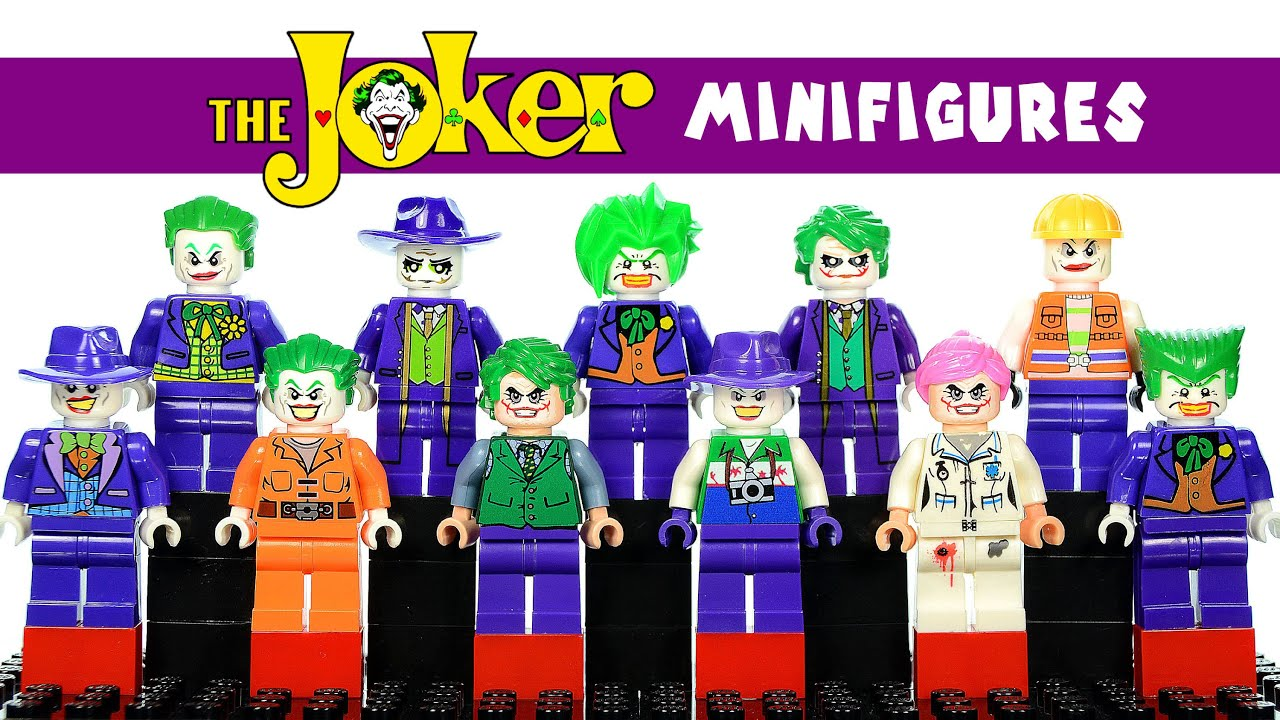 Joker images collection 46 - Lego Dc Comics The Joker Super Villain Minifigure Gallery Of Variants Collection Youtube
