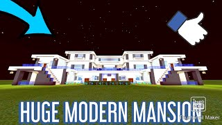Minecraft Tutorial- How To Make a Huge Modern Mansion PART 1