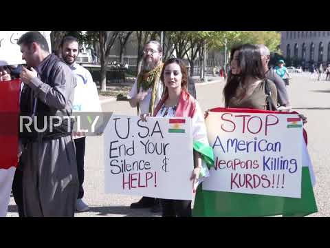 USA: Pro-Kurdish protesters call on White House to support Kurds in Iraq
