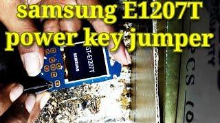 samsung E1207T POWER KEY JUMPER SOLUTION