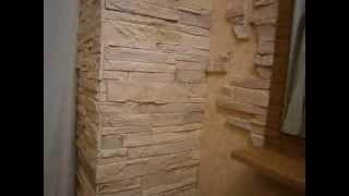 Декоративный камень, дизайн прихожей, арки, декор, зеркало(Красивый декор в ходе ремонта прихожей с арками, дверьми, зеркалом. Использование декоративного камня..., 2013-12-19T14:21:24.000Z)