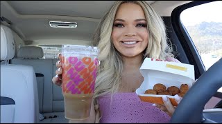 new dunkin' charli cold foam + burger king cheesy tots are back!