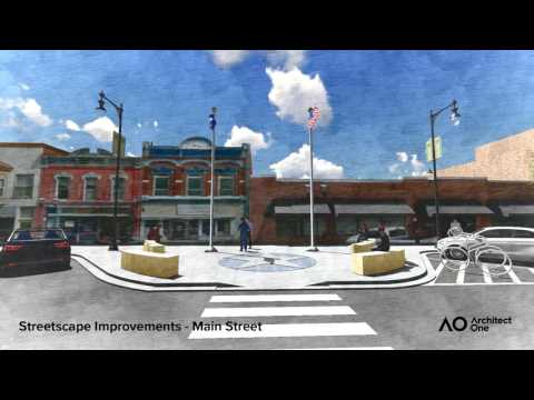 2017 - Concepts for Dowtown Ottawa, Kansas Redevelopment