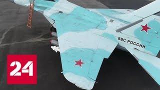 Полеты новейших комплексов МиГ-35. Видео Минобороны - Россия 24
