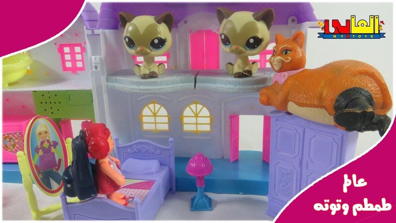 لعبة طمطم مع القطتين التوئم للأطفال ألعاب الدمى والعرائس