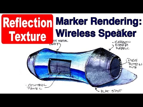 Marker Rendering w reflections and fabric texture:Wireless Speaker demo tutorial