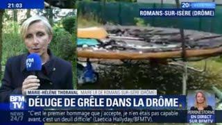 Déluge de grêle: la maire de Romans-sur-Isère va demander la reconnaissance de catastrophe naturelle