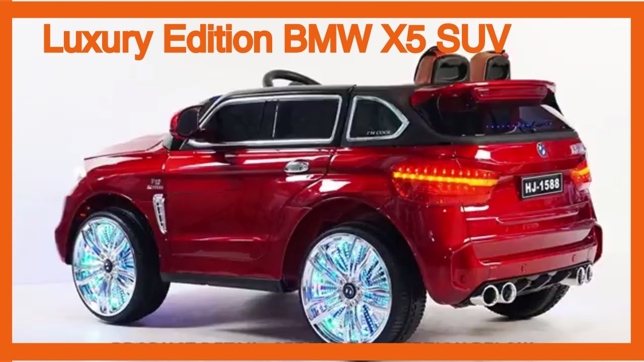 luxury edition bmw x5 suv style 12v power wheels ride. Black Bedroom Furniture Sets. Home Design Ideas