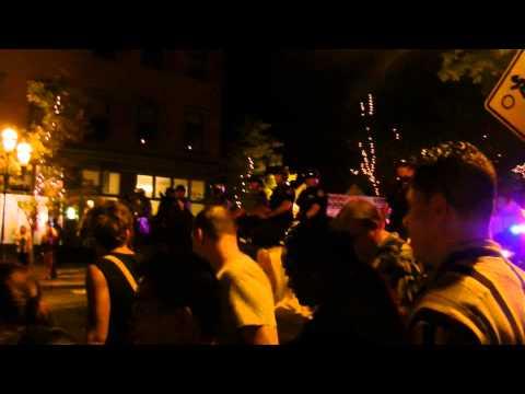 Musikfest 2013: Bethlehem Police clearing Main St.