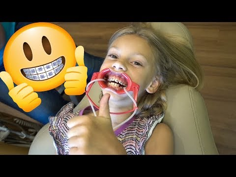 Our 8 Year Old Gets BRACES!!!😁