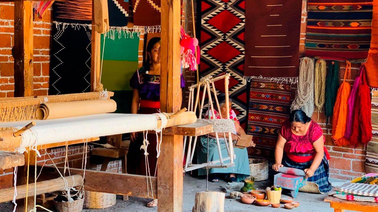 Teotitlán del Valle es famoso mundialmente por su trabajo artesanal.
