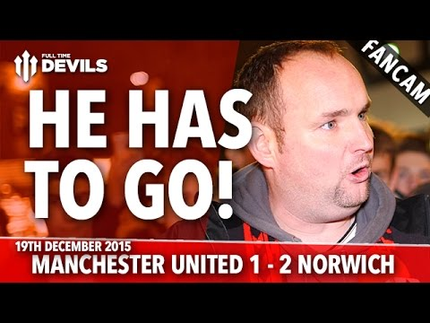 Andy Tate: He Has To Go! | Manchester United 1-2 Norwich City | FANCAM