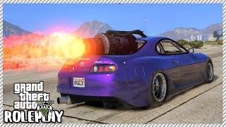 GTA 5 Roleplay - Jet Engine Drag Supra   RedlineRP #647