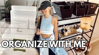 ORGANIZE WITH ME (skincare/makeup organization, shelves, adding baskets, + target haul)