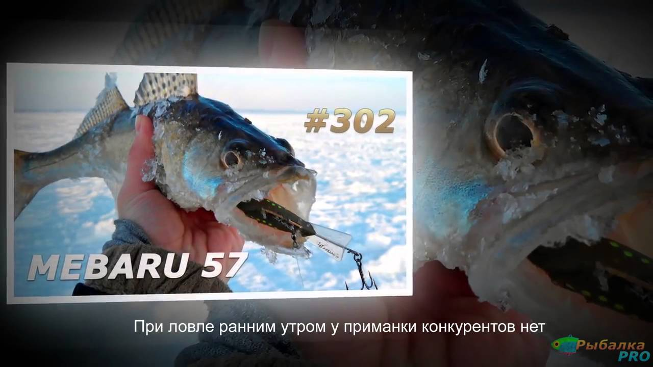 Балансиры Mebaru для ловли судака зимой