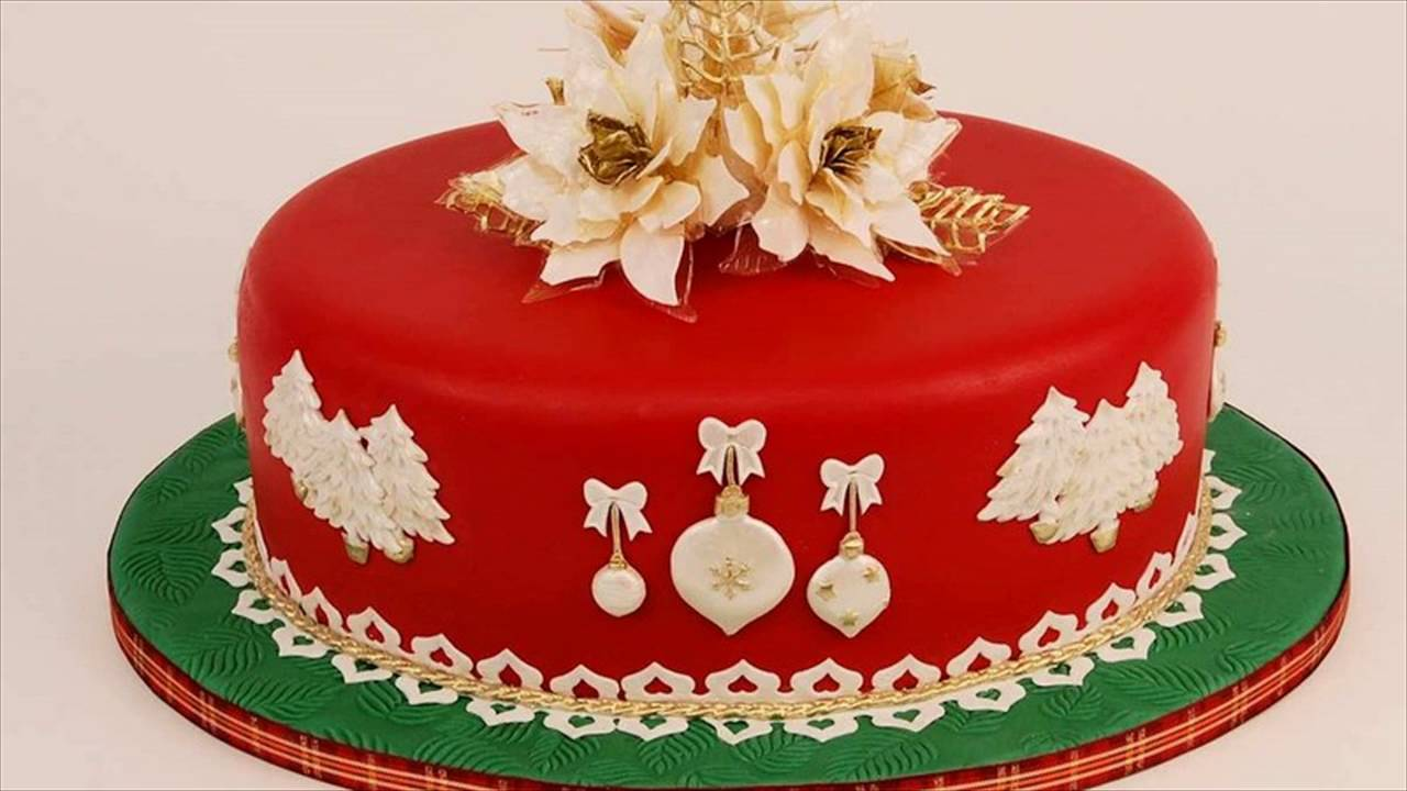 Quick And Easy Christmas Cake Decorating Ideas : Christmas Cake Ideas - YouTube