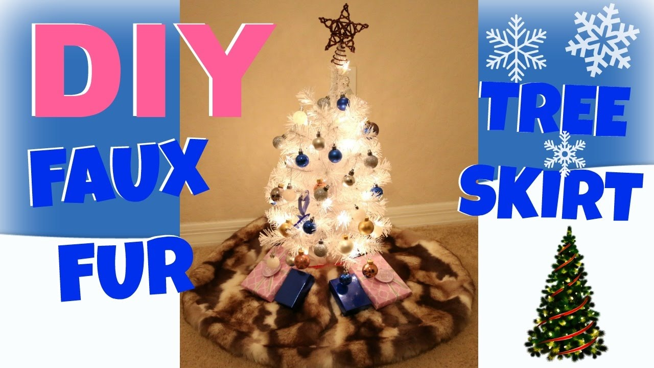 Mini Christmas Tree Skirt Pattern.Diy Faux Fur Christmas Tree Skirt Mini Tree