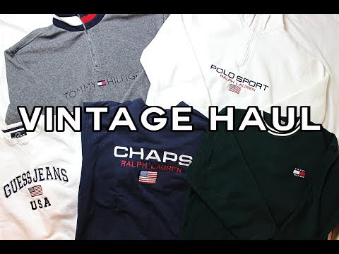 HUGE VINTAGE/THRIFT CLOTHING HAUL