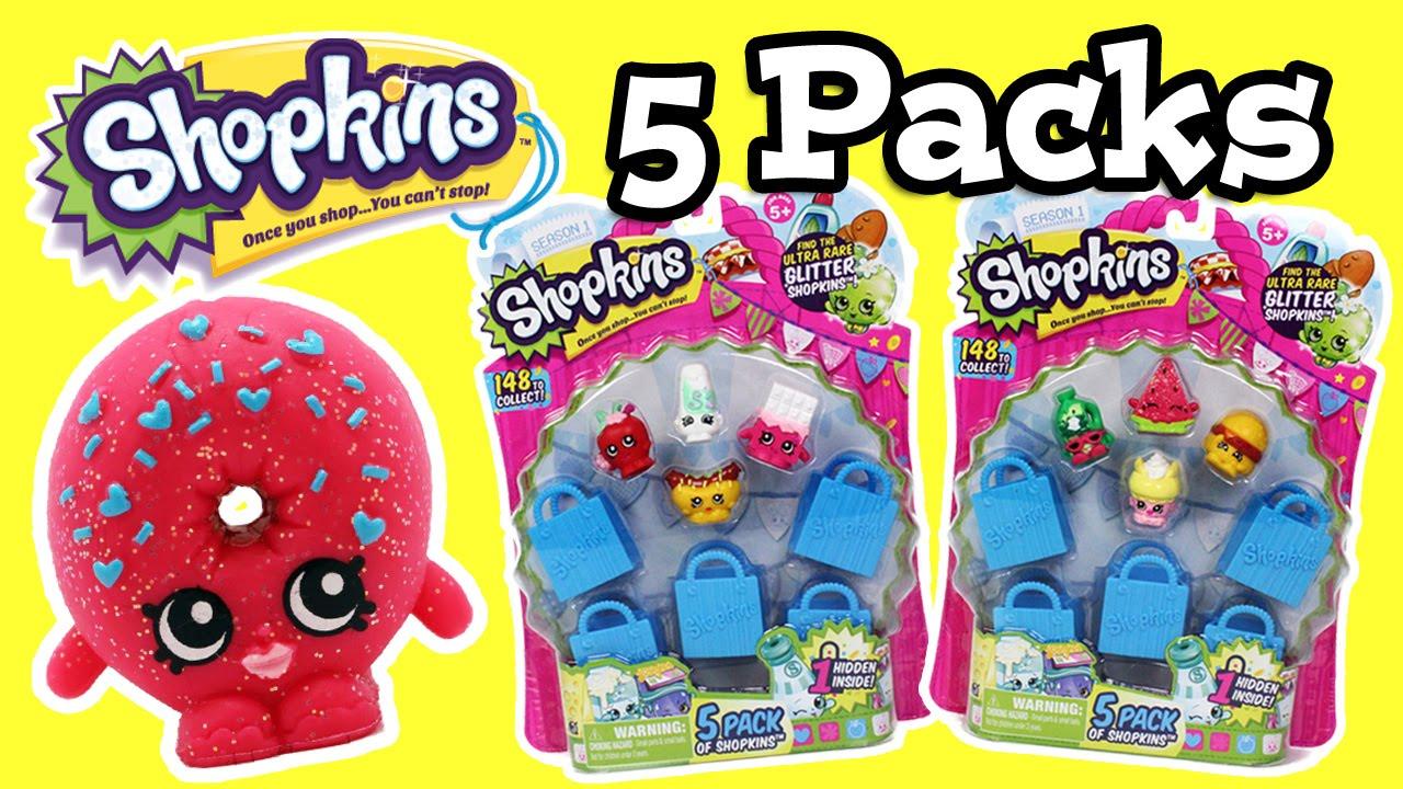 Shopkins 5 Pack Blind Bag Opening - YouTube